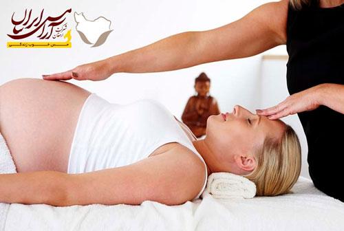 رفع استرس بارداری با ماساژ